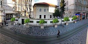 İstiklal Caddesi Yeşillendiriliyor! 24 Tane Beton Saksılı Ağaç Yerleştirilecek