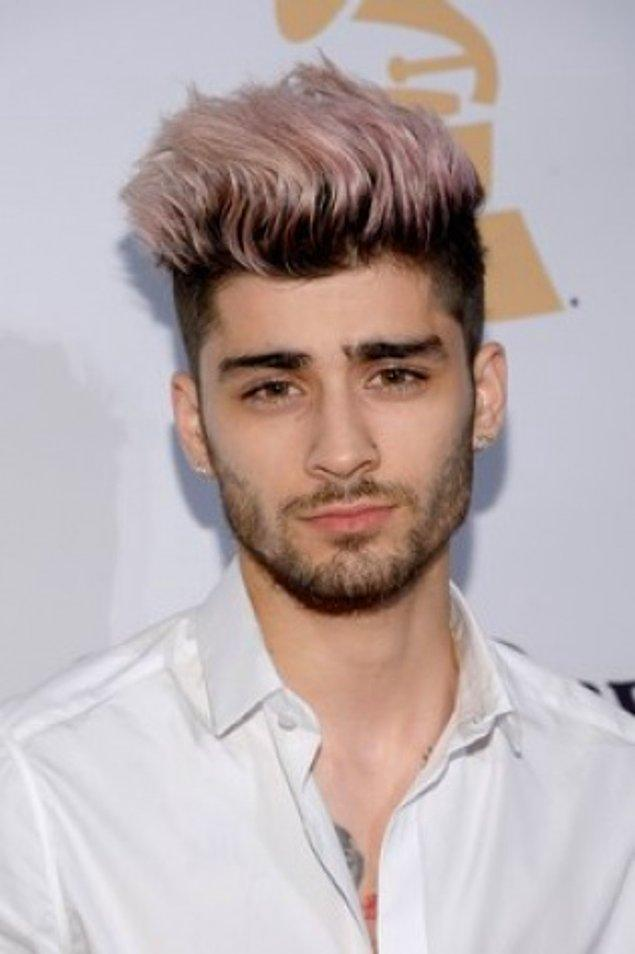 6. Canı sıkıldıkça saç şeklini ve rengini değiştiren bir diğer ünlü isim de Zayn Malik tabii ki.