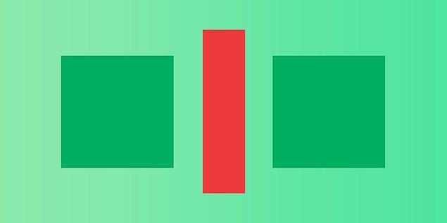 2. Sence bu iki kare farklı renkte mi?