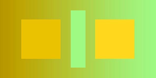 8. Sence bu iki kare farklı renkte mi?