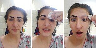 İnternetten Sipariş Ettiği Ürünü Denerken Kaşlarını Kaybeden Kadının Yaşadığı Efsane Şok