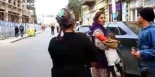 Kavga Esnasında Sopa Misali Çocuğu Kullanan Kadın
