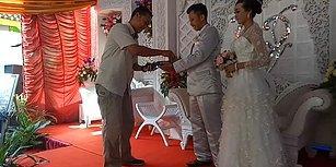 Düğünde Takı Niyetine Pos Makinesiyle Çekim Yapan Damat