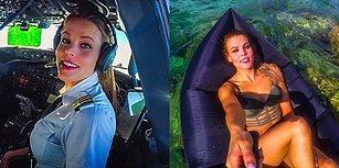 Kokpitte Yolcuları Sosyal Medyada Takipçilerini Uçuran İsveçli Güzel Pilot Malin Osiban Rydqvist