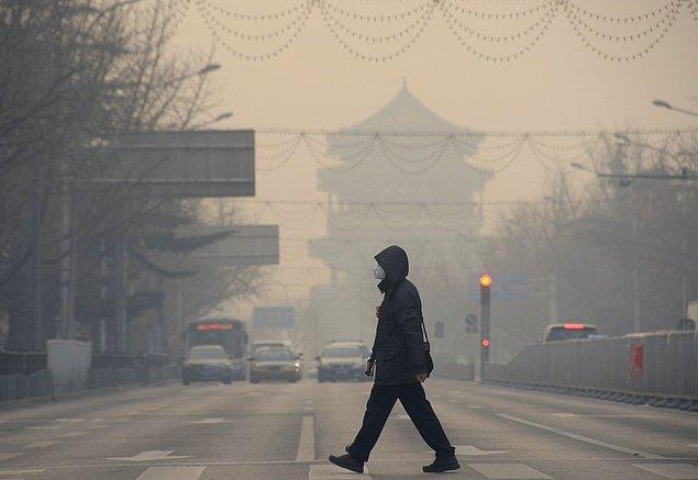 Hava kirliliğinin yoğun olarak yaşandığı ülkelerin başında Çin geliyor.