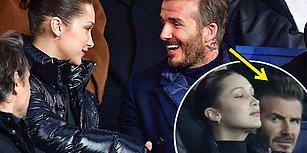 Ahmet Kural Sıla'ya Böyle Bakmadı! Real Madrid Maçında Dikkat Çeken David Beckham ve Bella Hadid Yakınlaşması