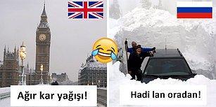 4 Santimetre Kar Görünce Aklını Kaybeden İngilizlere Sosyal Medyadan Gelen En İyi Tepkiler