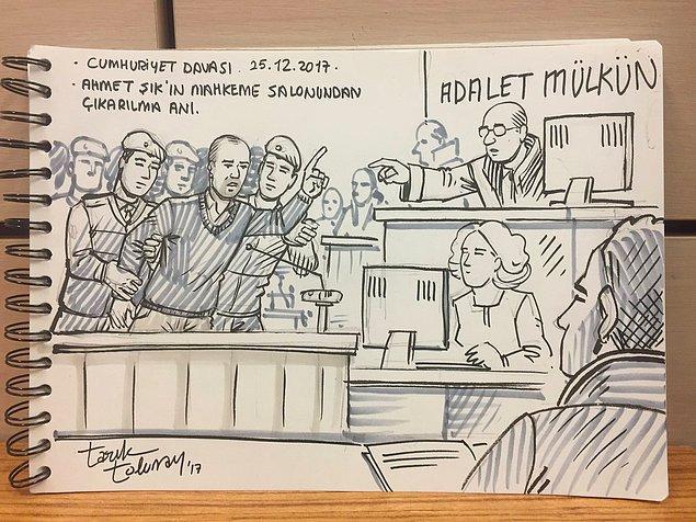 Bir önceki duruşmada hâkim, Ahmet Şık'ın savunmasını 'siyasi' bularak salondan çıkarılmasını istemişti.