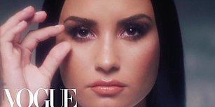 Vogue İçin Kamera Karşısına Geçen Demi Lovato, Makyajını Silerek Muhteşem Bir Dönüşüm Yaşadı!