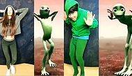 İnternetin Yeni Akımı: Yeşil Uzaylı Dansı Taklit Etme