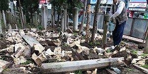 Üsküdar'da Hilti ile Kırılan Tarihi Mezar Taşları İçin İBB'den Açıklama: 'Soruşturma Başlatıldı'
