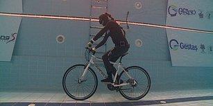 Birgül Erken, Sualtında Bisikletle 59.6 Metre Giderek Dünya Rekoru Kırdı!
