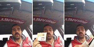 Normal Bir Davranışı Alkışlayacak Duruma Mı Geldik? Aracında Unutulan Cüzdanı Teslim Edeceğim Diye Video Çeken Taksici