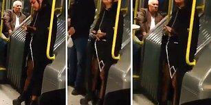 Garip Kıyafetiyle Metrobüste Korku Salan Kadın