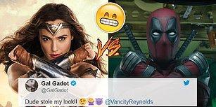 """Gal Gadot'un """"Benim Hareketimi Çalmışsın"""" Diyerek Deadpool'a Takılması ve Ryan Reynolds'ın Klas Cevabı!"""