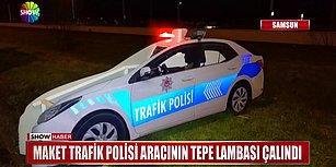 Maket Trafik Polisi Aracının Tepe Lambasını Çalan Yurdum İnsanı