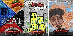 Çiziktirme Kuşağı Son Hızıyla Devam Ediyor! Önünde SEAT Arona'nın Park Etttiği Duvarı Şahesere Çeviren 10 Takipçimiz