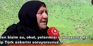 Türk Askerinin Aleyhine Sorular Soran Muhabire Ayar Veren Kürt Teyze