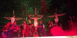 Sahneye Dalıp Hz. İsa'nın İşkenceye Maruz Kalmasına Engel Olan Adam