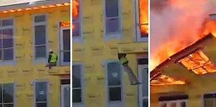 Yanan Binada Mahsur Kalan İnşaat İşçisinin İzlerken Ödünüzün Patlayacağı Korku Dolu Anları