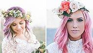 Bu Yaz Düğünler Çok Renkli Geçecek! Birbirinden Güzel ve Rengarenk 23 Gelin Saçı
