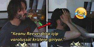 Keanu Reeves'in Rastgele İşlerle Uğraşırken Çekilen ve İnterneti Kahkahalara Boğan Fotoğrafları