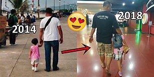 2014'ten Beri Kocasını ve Kızını El Ele Yürürken Gizlice Fotoğraflayan Anneden Minnoş Kareler!