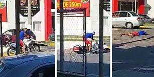 Beceriksiz Hırsızın Çaldığı Polis Motosikletinden Siren Sesleri Çalmaya Başlayınca Teslim Olduğu Anlar