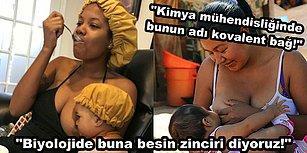 Çocuğunu Emzirirken Bir Taraftan Yemek Yiyen Annenin Fotoğrafı Sosyal Medya Kullanıcılarına Mizah Malzemesi Oldu!