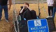 İlk Defa Salıncağa Binen Engelli Gencin Tarifsiz Mutluluğu
