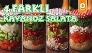 Her An Yanınızda Olacak Lezzet: 4 Farklı Kavanoz Salata Nasıl Yapılır?