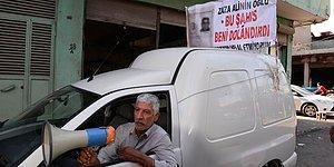 Adana'dan Şaşırtmayan Bir Görüntü: Dolandırıcısını Pankartla, Megafonla Tüm Şehre Duyuran Adam