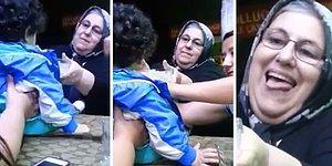 Çocuğa Mama Yedirirken Olaya Kendini Fazla Dahil Eden Teyze