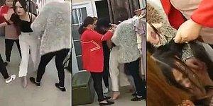Kocasının Metresini Yakaladığı Mağazada Paramparça Eden Kadın