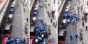 Büyük Maç Öncesi Sokakta Karşı Karşıya Gelen Taraftarlardan Özenilecek Hareket