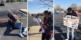Kan Revan İçinde Kalmış Görüntüsüyle Ölmüş Numarası Yapan Gençten Kız Arkadaşına Sürpriz Balo Daveti