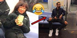 Metroda Gizlice Fotoğrafını Çekmeye Çalışan Kadını Komik Bir Şekilde Suç Üstü Yakalayan Manken Nyle DiMarco