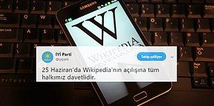 Bilgiye Erişim Seçim Vaadinde: İYİ Parti 25 Haziran'da Wikipedia Engelini Kaldıracağını Açıkladı