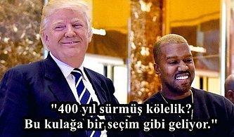 """Siyasi Görüşüyle Tepki Çeken Kanye West Bir Tartışmada """"Kölelik Seçimdir"""" Dedi, Ağzının Payını Aldı!"""