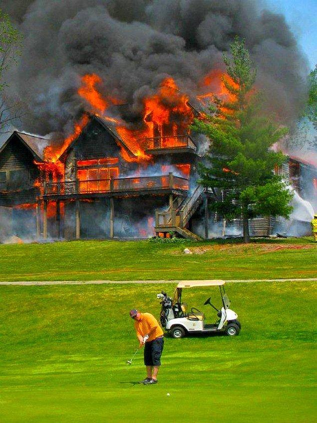 4. Golf oynamak için çok güzel bir gün!