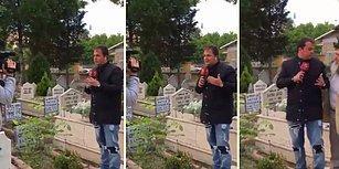 Çorum'da Mezarlıkta Canlı Yayın Yapan Muhabiri Korkutan Dayı