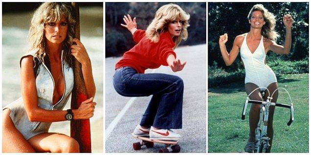 7. 1970'li yıllarda Farrah Fawcett'la şekillen tip: Atletik, bronz ve doğal görünüm