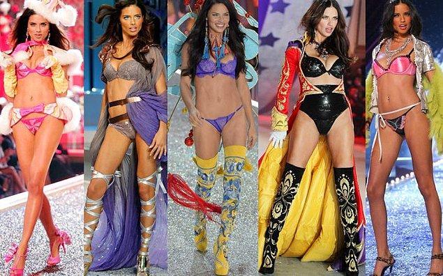 10. 2000'li yıllarda Victoria's Secret mankenleri üzerinden şekillenen ideal vücut: İnce ve uzun bacaklar