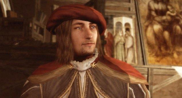 İlgi çekici bir tarihi karakter olması popüler kültürle arasını epey iyi tuttu. Assassin's Creed isimli oyunun karakterlerinden biri olarak karşımızdaydı.
