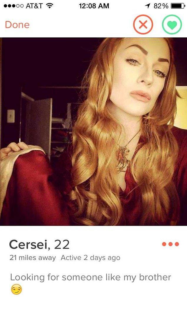 19. Game of Thrones'tan Cersei'nin Tinder'ı olsaydı…