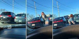 Trafikte Tartıştığı Adama Twerk Dansı Yaparak Cevap Veren Kadın
