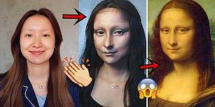 Kendisini Mona Lisa'ya Dönüştürüp Görenleri Şaşkına Çeviren Çinli Makyaj Sanatçısı