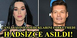 Yayında Olduklarını Farketmedi! Ünlü Sunucu Ryan Seacrest, Katy Perry'ye Sorduğu Soruyla Şaşırttı!