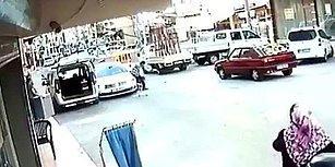 Müthiş Refleksi Sayesinde Ufak Kızı Arabanın Altında Kalmaktan Kurtaran Adam