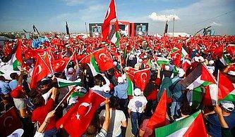 Binlerce Kişi Yenikapı'da Bir Araya Geldi: 'Zulme Lanet Kudüs'e Destek'